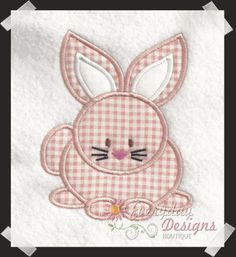 Spring Bunny Easter Machine Embroidery Applique' Design on Etsy, $2.99