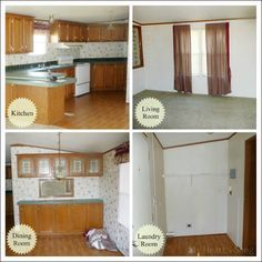 Mobile home remodel - these people did an awesome job and it doesn't look like a trailer anymore!