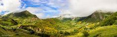 Un Lugar Donde Perderse by JesusMiguelBalleros  landscape mountains clouds españa green spain verde pueblo paisaje nubes asturias canon 60d somiedo