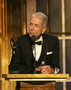 °lc° Leonard Cohen, Rock and Roll Hall of Fame Induction Ceremony, March 10, 2008.