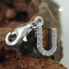 Anhänger, Charm Buchstabe U, Silber 925 Dreambase, http://www.amazon.de/dp/B00H2IIJSI/ref=cm_sw_r_pi_dp_bRXitb0AH423Y