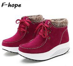 Encontrar Más Toning Shoes Información acerca de Invierno mujeres pivotar los zapatos de tonificación nueva caliente de la felpa de terciopelo nieve de moda Boots Lace up High top exterior zapatillas mbt zapatos de mujer 40, alta calidad bolsa de zapatos, China zapatos de mujer zapatos Proveedores, barato muñecos de calzado de FOR HOPE AND LOVE en Aliexpress.com