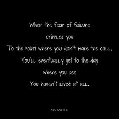fear of failure #quote