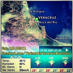 Buenos días a todos ya estamos cerca del fin de semana a gozar de este #clima en #Veracruz y #BocaDelRio que no será tan caluroso http://www.facebook.com/TurismoEnVeracruzAventura #temperatura #Mexico