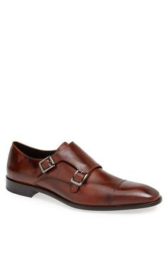 Calibrate 'Cusano' Double Monk Shoe (Men) available at #Nordstrom.  Handsomely burnished leather adds an earthy elegance to a bold double monk shoe capped at the toe for a clean visual break.