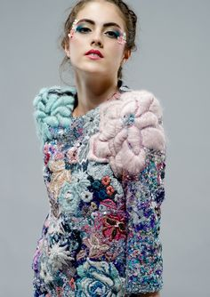 Rich Textures - vibrant floral embroidery; deeply embellished textile surfaces for fashion // Stephanie Cristofaro