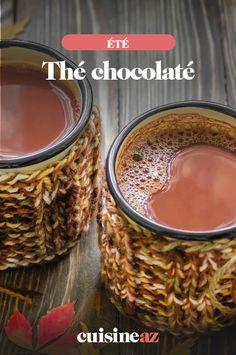 Oui, on peut faire un thé chocolaté ! Il vous faudra évidemment du thé, mais aussi du lait et du cacao.  #recette#cuisine#the#chocolat #boisson #ete Cacao, Oui, Oatmeal, Breakfast, Desserts, Drink Recipes, Chocolates, Vegetable Tian, Food