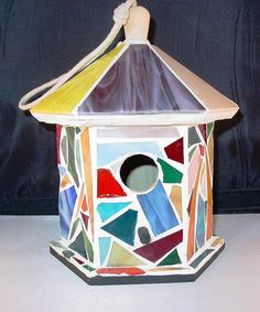 Mosaic Birdhouse by hesshatcreek, via Flickr