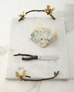 Shop Butterfly Gingko Cheese Board with Knife from Michael Aram at Horchow, where you'll find new lower shipping on hundreds of home furnishings and gifts. Marble Cheese Board, Cheese Boards, Cheese Platters, Flower Market, Metal Working, Neiman Marcus, Dinnerware, Decoration, Creations