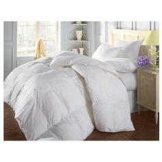 #6: Natural Comfort Soft and Luxurious 300TC Sateen White Down Alternative Duvet Insert, Oversize King