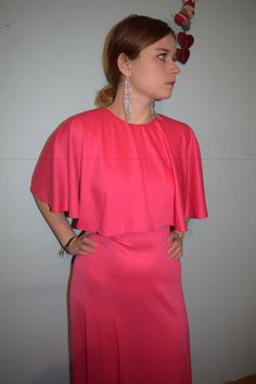 vintage 70s fabulous pink maxi dress hipster by jampops on Etsy