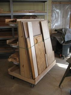 Lumber cart by wasmithee woodworking for Sheet goods cart