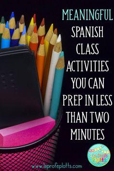 Fun Low-Prep Spanish Class Activities