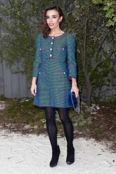 Elodie Bouchez in Chanel Spring 2013 at Chanel Haute Couture Spring 2013 Paris Fashion Show