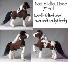 Needle Felted Horse by featherheartcreations, via Flickr