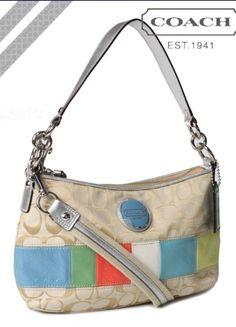 Coach Signature Stripe Multi Stripe Demi Shoulder Bag Crossbody F17425 in Clothing, Shoes & Accessories, Women's Handbags & Bags, Handbags & Purses | eBay