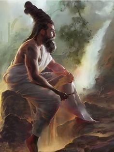 The Tamil poet Thiruvalluvar by Ponmalar Art Sketches, Art Drawings, Lord Murugan Wallpapers, India Painting, Lord Shiva Painting, Indian Art Paintings, Krishna Art, God Pictures, Hindu Art