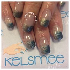 Gel French with maniq