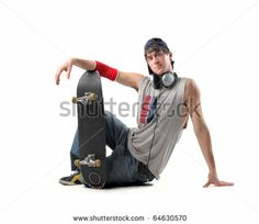 924094f9a86 young boy with skateboard - stock photo Senior Boy Poses