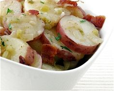 Hot German potato salad...gonna have to make this soon!  Haven't it in forever and it sounds good!!!