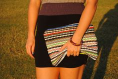 Carpet clutch  by FloatingChairs on Etsy, $38.00
