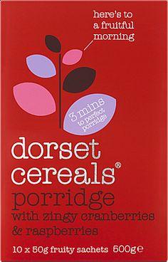 porridge with zingy cranberries & raspberries