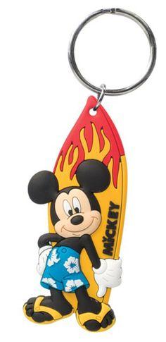 Disney PVC Soft Touch Key Ring: Mickey Surfing