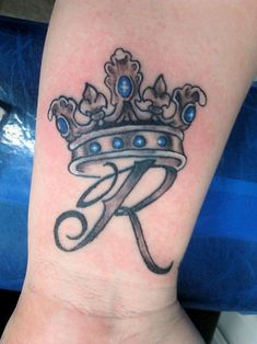tattoo letter R with crown - Google Search