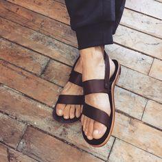 Leather Franciscan Sandal.