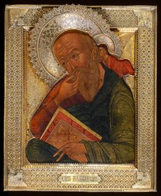 Russian Icons - St John the Theologian in Silence - Jan Morsink Ikonen