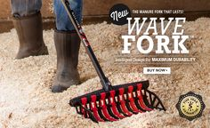 New Wave Fork - Intelligent design for maximum durability. Buy Now Pitch Forks, Leather Work Gloves, Horse World, Intelligent Design, My Horse, Dream Big, Buy Now, Waves, Tack