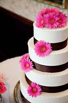 #weddingcake pink #Gerberdaisy
