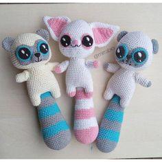 Yoohoo and friends Crochet pattern Kawaii Crochet, Cute Crochet, Crochet Baby, Knit Crochet, Easy Crochet Patterns, Crochet Patterns Amigurumi, Crochet Toys, Handmade Baby, Handmade Toys