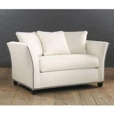 "Tate Twin Sleeper | Ballard DesignsDimensions: Overall: 36""H to Pillows or 30""H to Frame X 58""W X 36""D Seat: 22""H X 41""W X 27""D (w/out pillows) Arms: 30""H Throw Pillows (3): 20"" Square Clearance Under: 4""H Sleeper: 36""W X 88""L"