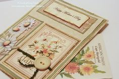 Mothers Day Card - Tip-Toe Through The Daisies -  Handmade Mothers Day Card