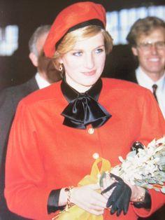 "November 15, 1984: Princess Diana christens the luxury liner ""Royal Princess"" in Southampton."