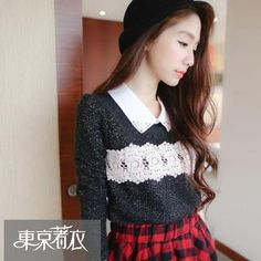 Buy 'Tokyo Fashion – Crochet-Panel Glitter Blouse' with Free International Shipping at YesStyle.com. Browse and shop for thousands of Asian fashion items from Taiwan and more!