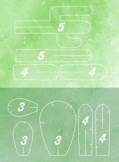 5 petits cactus à télécharger, imprimer et assembler soi-même, pour ceux qui n'ont pas la main verte. #cactusdiy