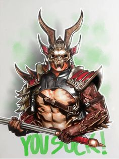 Shao Kahn - You Suck by Keagan-McTamney on DeviantArt Mortal Kombat Legacy, Mortal Kombat Games, Sub Zero, Game Character, Character Design, Mortal Kombat X Scorpion, Mortal Kombat X Wallpapers, Killer Croc, Copic Sketch Markers