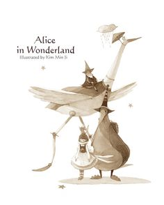 """I've seen so many """"original"""" re-makes of Disney's Alice in Wonderland, it's refreshing to see a truly new concept for the characters. #characterdesign"""