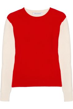 J.W.Anderson Two-tone cashmere sweater - 50% Off Now at THE OUTNET