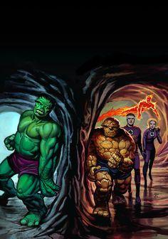 Fantastic Four vs. The Hulk...........