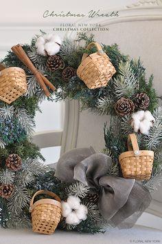 【Christmas Wreath】|スタイルのある暮らし It's FLORAL NEW YORK Style ~暮らしをセンスアップするフラワースタイリングで毎日を心豊かに、心地よく~