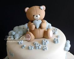 1 million+ Stunning Free Images to Use Anywhere Fondant Cake Tutorial, Fondant Toppers, Fondant Cakes, Cupcake Cakes, Baby Birthday Cakes, Baby Boy Cakes, Cakes For Boys, Torta Baby Shower, Gateau Baby Shower Garcon