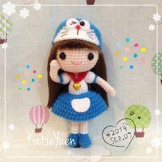 "277 Likes, 19 Comments - ☆Katie Yuen☆ (@katieyuenlj) on Instagram: ""叮当妹 #adorable #amigurumi #cute #crochetdoll #crochet #doll #doreamon #hobby #handmade #handcraft…"""
