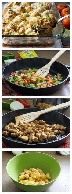 Classic fajitas in a quick-prep, veggie-packed dinner bake!