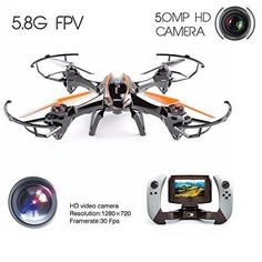 Drone  Drone with HD Camera  Drone Master 5 MP REALTIME WIFI CAMERA U818S 6-Axis RC Quadcopter Drone with FPV WIFI-818 Real-Time monitor and 5.0 MP HD Camera