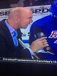 Subtly using your stick to prevent Pierre from getting any closer