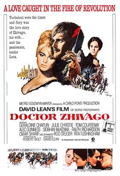 Doctor Zhivago - Home Theater Decor - Classic Movie Romance Poster Print - 13x19 - Vintage Movie Poster - Julie Christie Omar Sharif