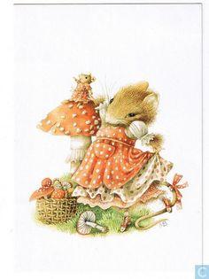 Ansichtkaarten - Kinderpostzegelkaarten Vera de Muis - Voor het kind - Vera de Muis